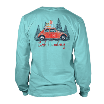 Bah Humbug- Long Sleeve- Chalky Mint