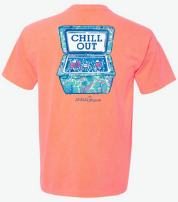Chill Out- Short Sleeve- Neon Red Orange