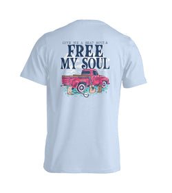Free My Soul- Short Sleeve- Chambray
