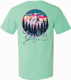 Explore Mountains- Short Sleeve- Island Reef