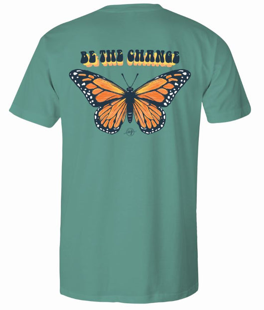 Be The Change- Short Sleeve- Light Green