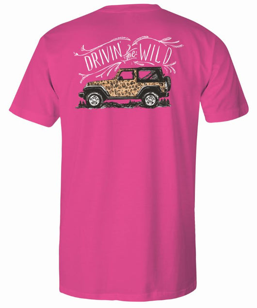 Cheetah Jeep- Short Sleeve- Neon Pink