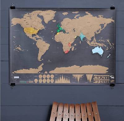 Large deluxe travel scratch off world map wall poster travel large deluxe travel scratch off world map wall poster travel vacation goodhomegoods gumiabroncs Choice Image