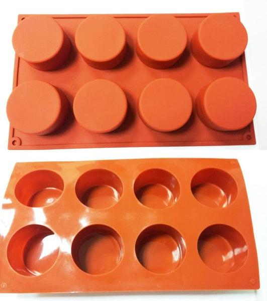 Round Shape Silicone Cake Mold 3D Handmade Cupcake Jelly Pudding Cookie Mini Muffin Soap Mold DIY Baking Tools