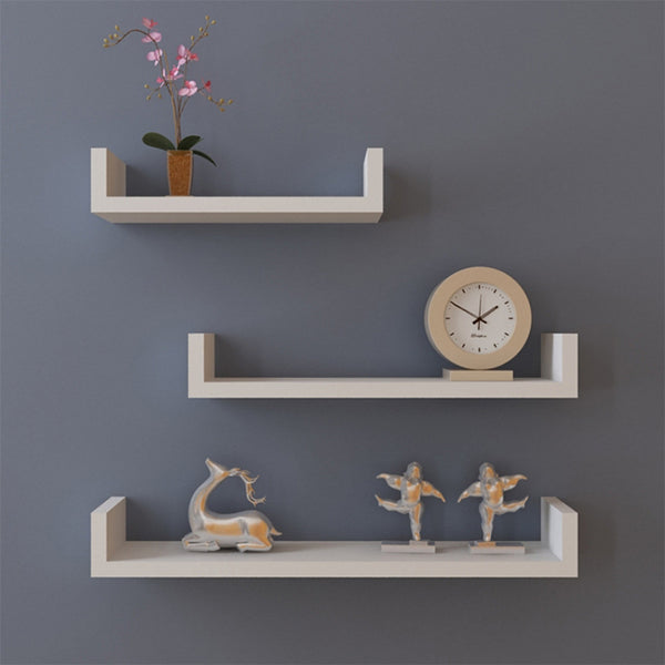 Homestyle 3 Colors MDF Wall Hanging Shelf Books Clocks Neat Rack Home Living Room wall shelves Decorative Wall Shelf 22