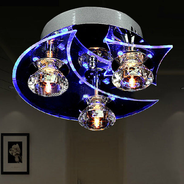 Modern Crystal Chandelier Dining Room Ceiling LED Crystal Light Moon and Star Shape Vintage Lighting Chandeliers