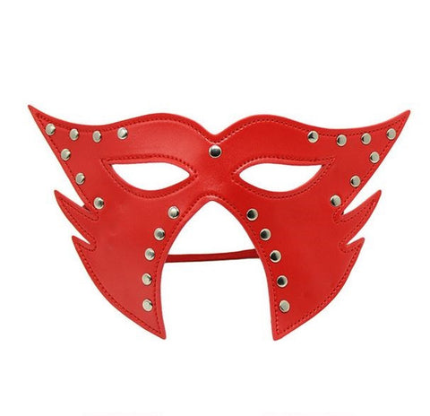 Leather Rivetted Costume Eye Mask