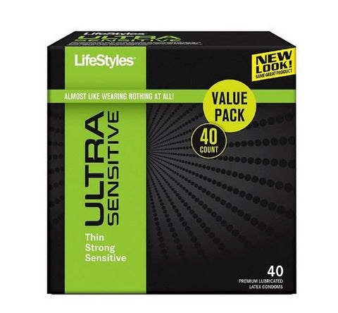LifeStyles Ultra Sensitive Condoms - 40 count