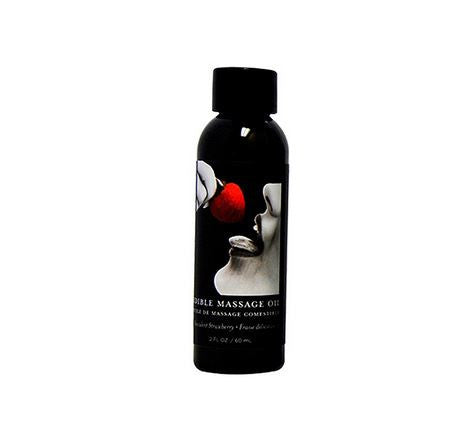 Succulent Strawberry Edible Massage Oil - 2 Oz.