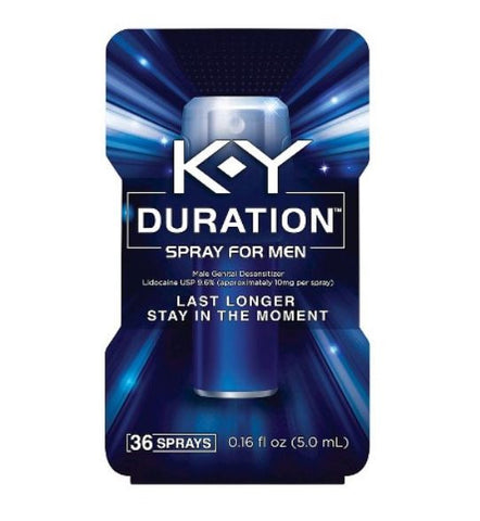 K-Y Duration Spray for Men 36 sprays.