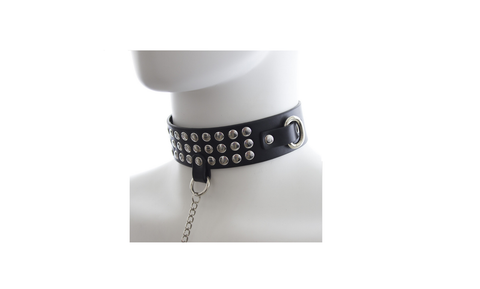 Bondage Studded Collar