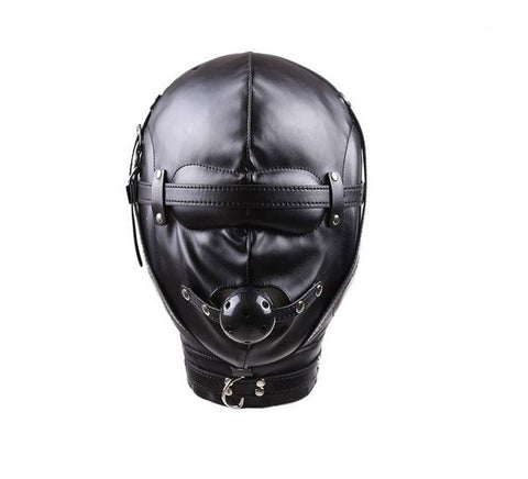 Bondage Hood With Blindfold and Ball Gag