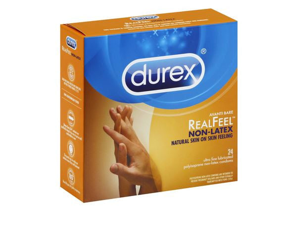 Durex Real Feel Avanti Bare Polyisoprene Non-Latex Condoms - 24 Count.
