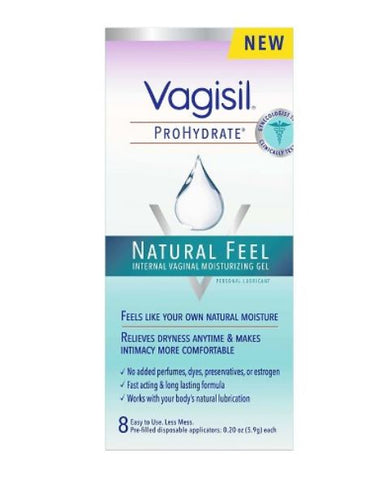 Vagisil ProHydrate Natural Feel Internal Vaginal Moisturizing Gel - 8 count.