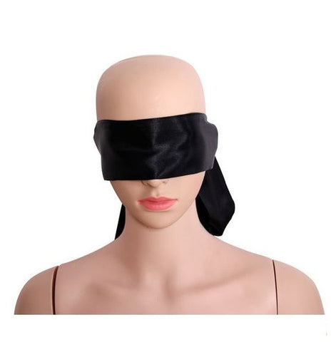 Shining Black Satin Blindfold