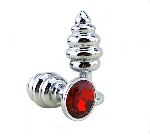 Metal Beaded Butt Plug