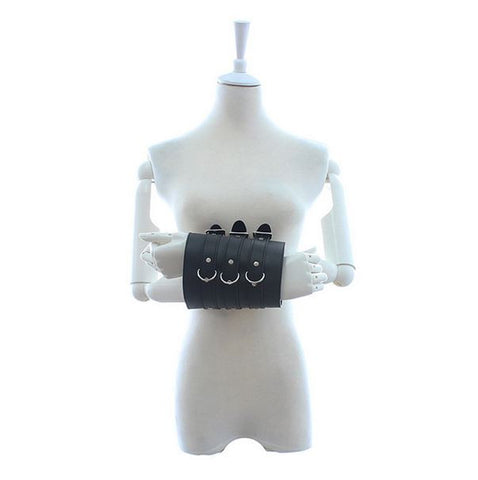 Black Leather Wrist Cuffs