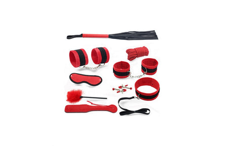 Red & Black Colored Beginner's Bondage Set