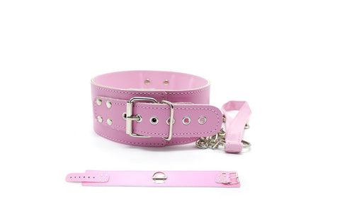 Leather Pink Collar