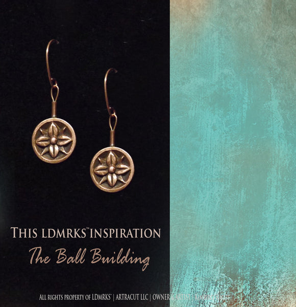 The Ball Building Copper Earrings BBCE-I