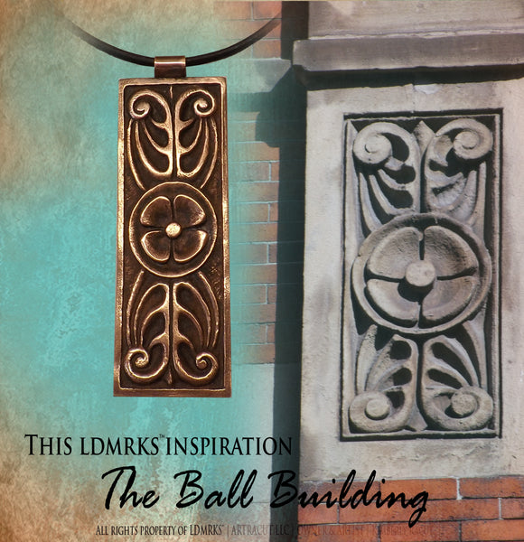 The Ball Building Copper Pendant Necklace