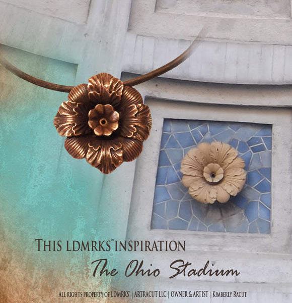 The Ohio Stadium Copper Pendant Necklace OSCN-I