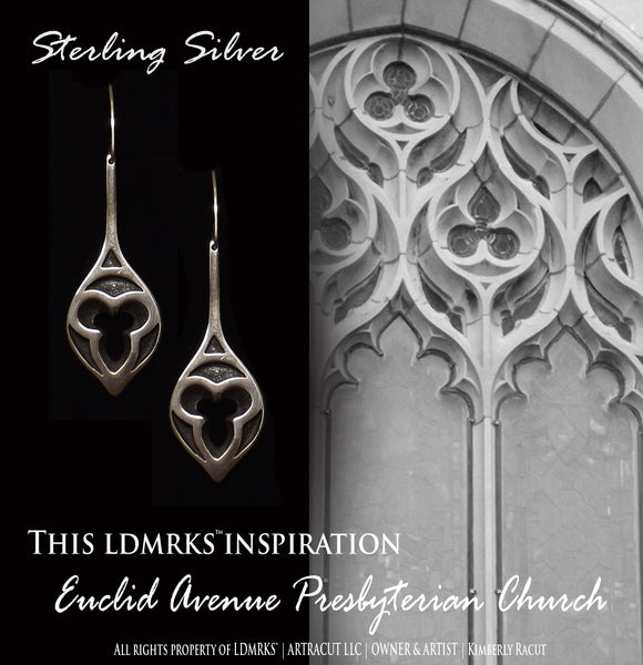 Euclid Avenue Presbyterian Church Sterling Silver Earrings - EAPCE-SSHC