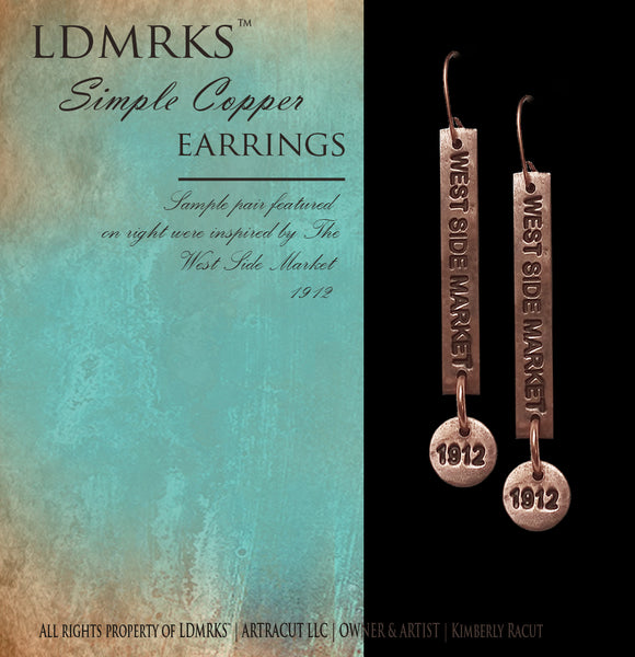 LDMRKS™ Simple Copper Earrings - SCE