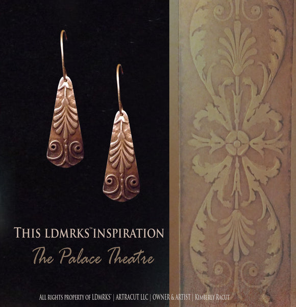 LDMRKS™ Palace Theatre Copper Earrings