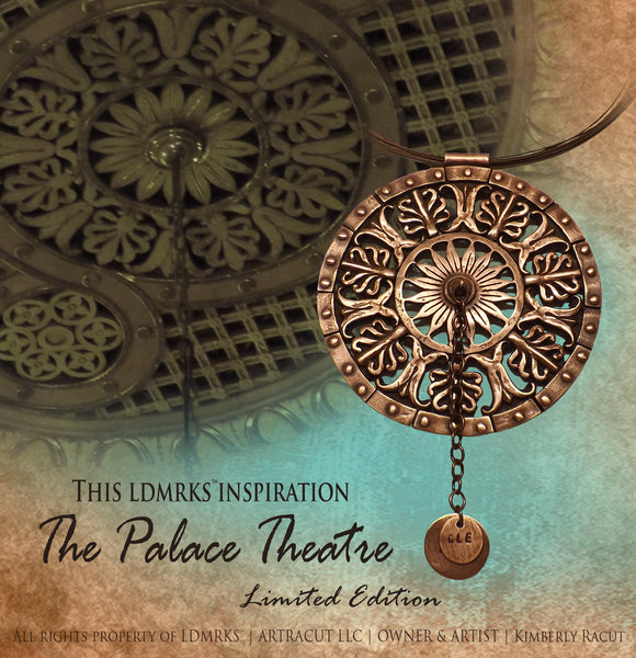2017 Limited Edition Palace Theatre Copper Pendant Necklace