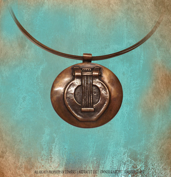 Severance Hall Copper Pendant with Bronze Jewelry Wire SHCP-I