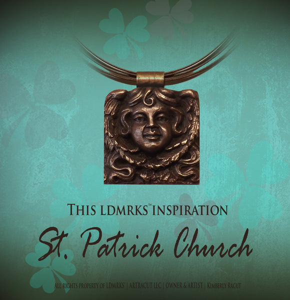 St Patrick Church Copper Pendant Necklace SPCCP-I