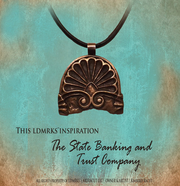LDMRKS™ State Banking and Trust Co. Copper Shell Pendant Necklace SBTCCSP