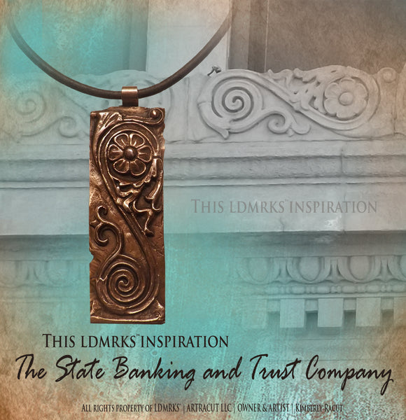 LDMRKS™ State Banking and Trust Company Copper Pendant Necklace SBTCCP
