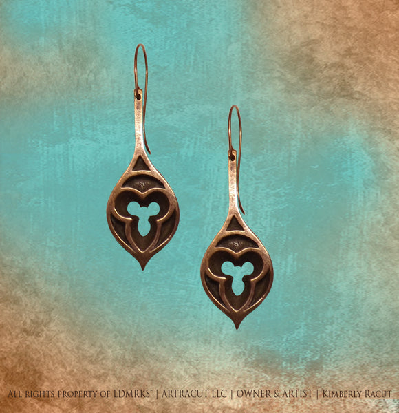Euclid Avenue Presbyterian Church Copper Earrings - EAPCE-I