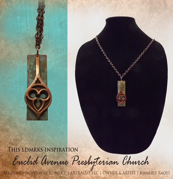Euclid Avenue Presbyterian Church Single Copper Pendant Necklace - EAP1CPN