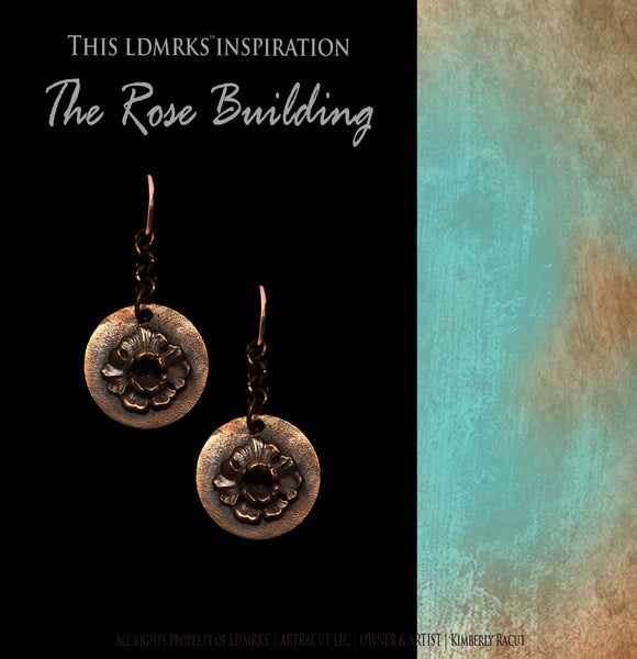 LDMRKS Rose Building Copper Earrings - RBCE