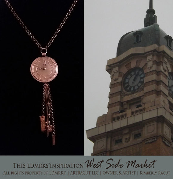 LDMRKS West Side Market 2020 New Year's Copper Pendant