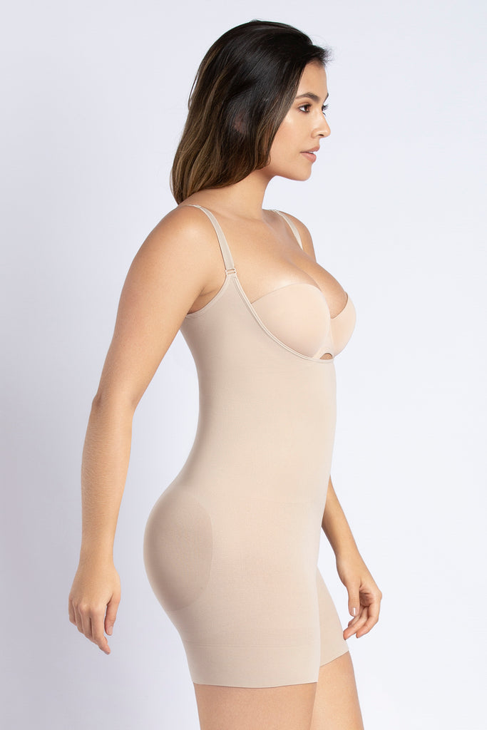SECOND SKIN SEAMLESS HIP-HUGGER BODYSUIT