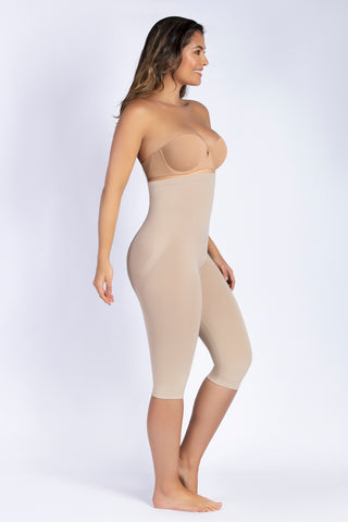 HIGH-WAIST SEAMLESS SHAPING CAPRI LEGGINGS