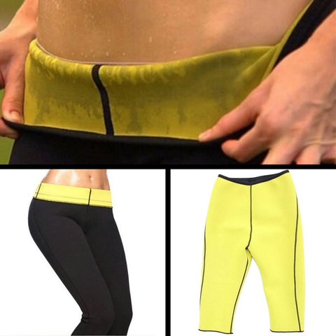 Neoprene Fat Burning Workout Capri Pants