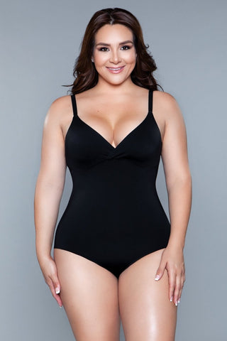 2003 What Waist Shapewear Bodysuit Black