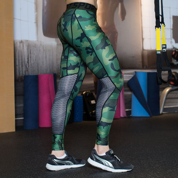 92816fa238919 Camouflage Men Compression Tights Leggings Gym Clothing Pants Fitness – WOW  Shapers