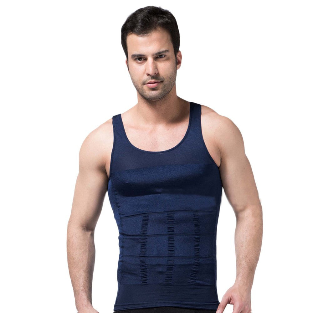Undershirt Elastic Sculpting Vest Abdomen Compression Muscle Girdle