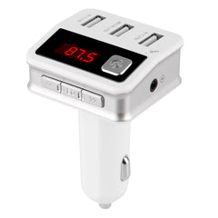 iSunnao Bluetooth Car Kit FM Transmitter - Three USB Chargers & MP3 Player