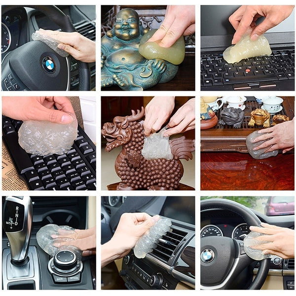 Car Glue Cleaning Tool  - Air Vent Outlet Dashboard Car Gap Dust Dirt Cleaner Soft Gel