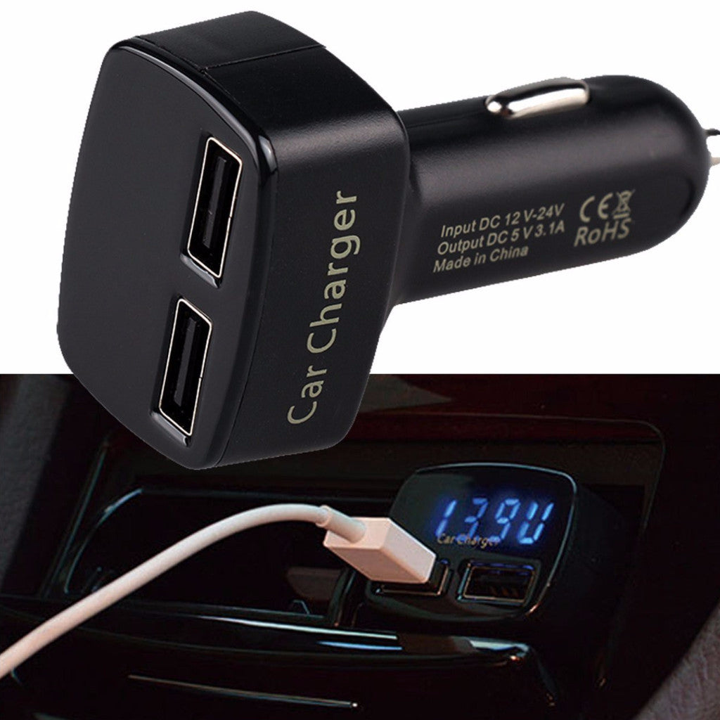 isunnao dual usb car charger 4 in 1 3 1a 2 port usb adapter. Black Bedroom Furniture Sets. Home Design Ideas