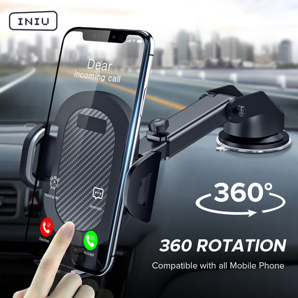 Long Arm Smartphone Car Holder 360 Suction Mount
