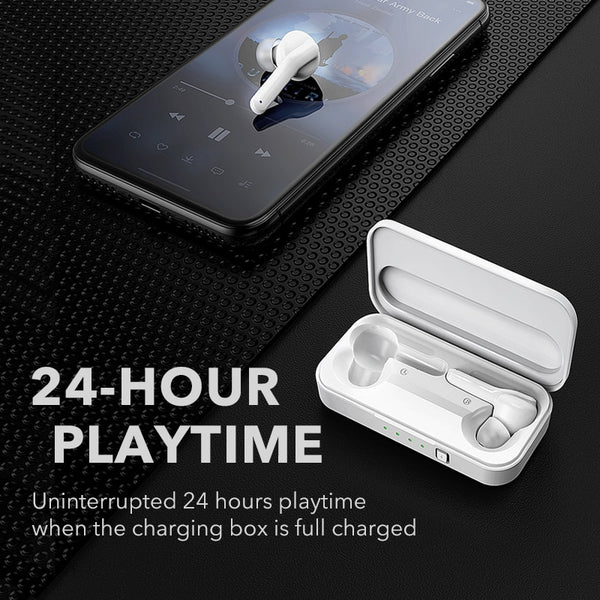 Wireless Bluetooth 5.0 Earbuds - Stereo Noise Cancelling with Microphone Handsfree call