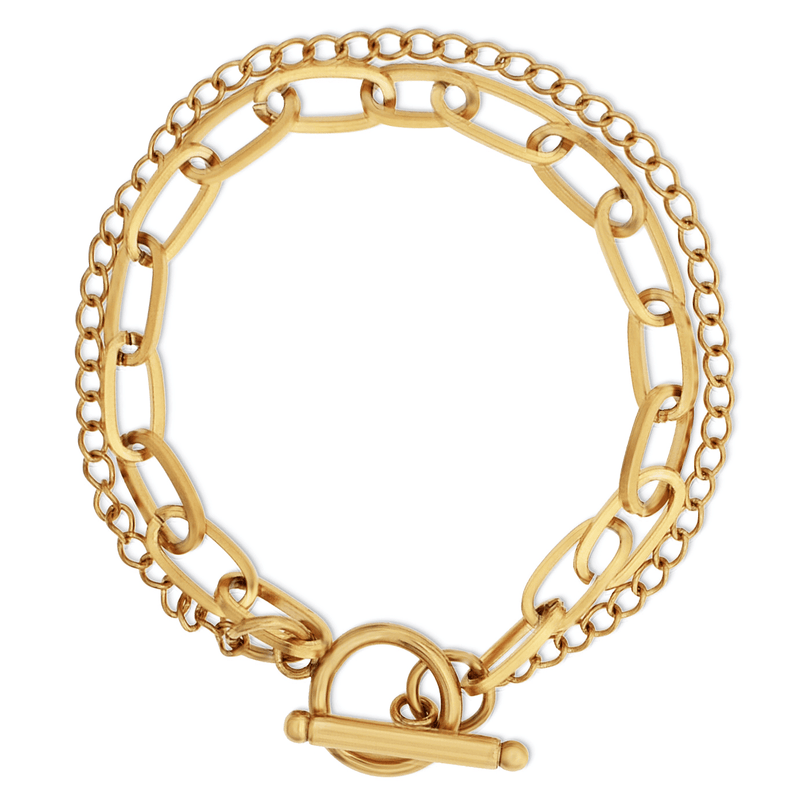 Ellie Vail - Arden Double Chain Toggle Bracelet